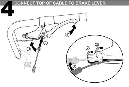 Схема тормоза v-brake