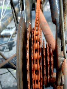 Смазка велосипеда: велосипедная цепь