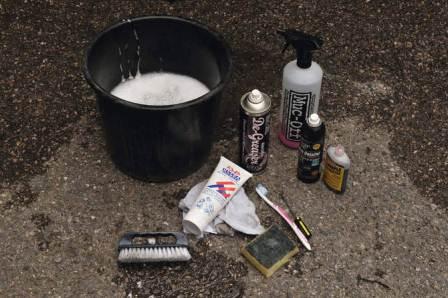 инструменты для очистки велосипеда