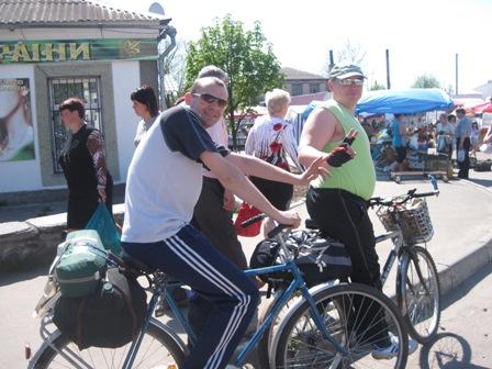 Возле рынка в Олевске