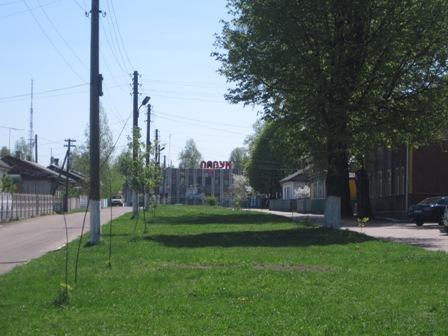 Одна из улиц Олевска