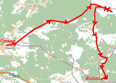 Майская велопоездка по маршруту Коростень-Олевск-Каменное село-Коростень